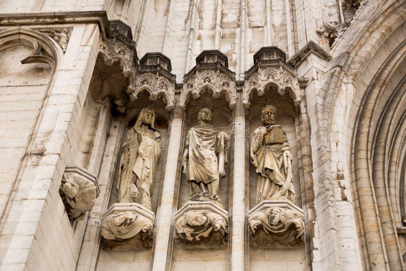 Собор St Michael и St Gudula стоковое изображение rf
