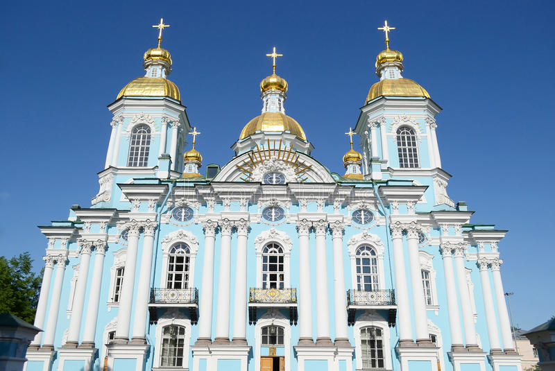 Собор St Nicholas военноморской, Санкт-Петербург стоковая фотография rf