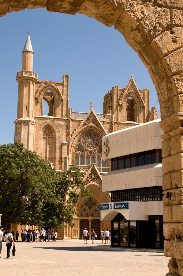 Собор St Nicholas - городок Famagusta стоковое изображение