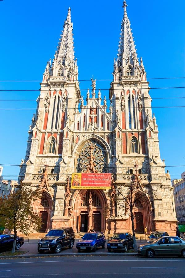 Собор St Nicholas римско-католический в Киеве стоковые фотографии rf