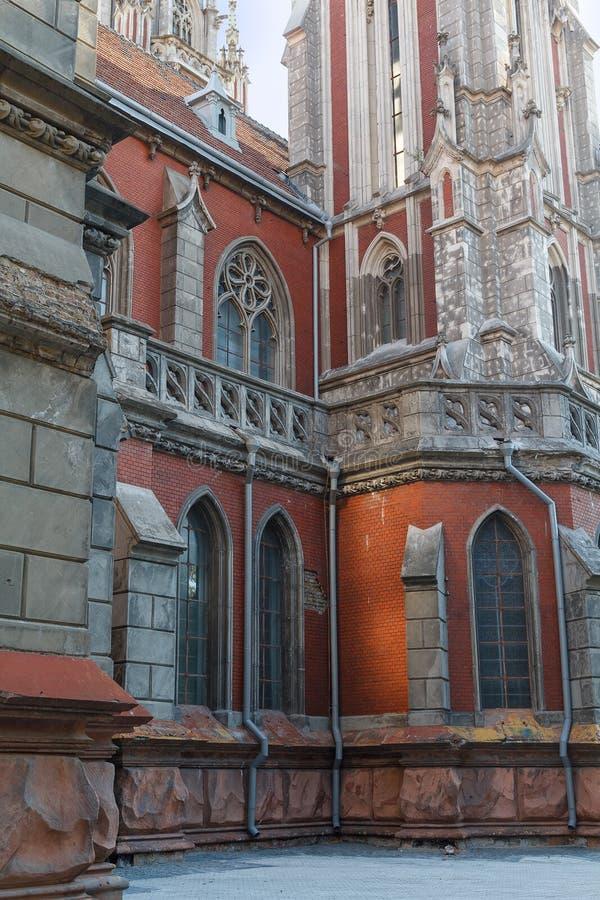 Собор St Nicholas римско-католический Киев, Украин стоковое фото rf