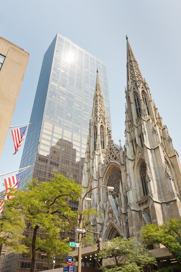 Нью-йорк собора St. Patrick стоковое изображение rf