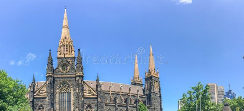 Собор St. Patrick римско-католический в Мельбурне, Виктории, a стоковое изображение