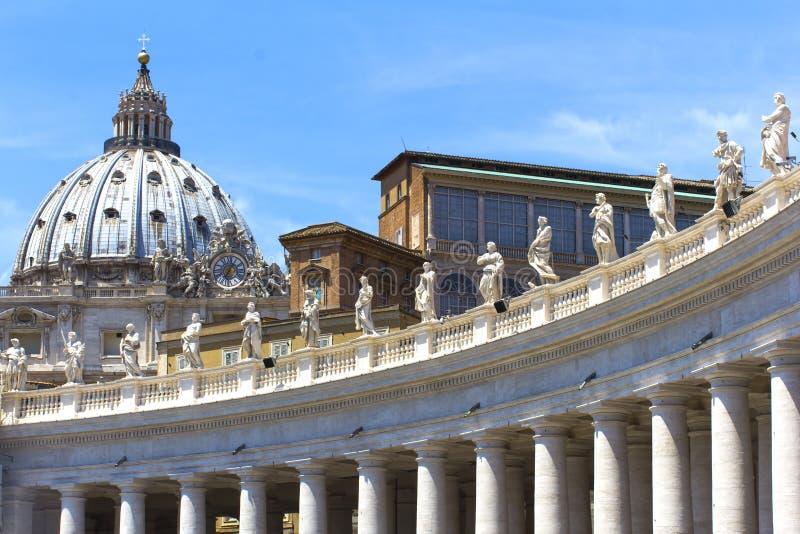 Собор St Paul в Риме, Италии стоковые изображения rf