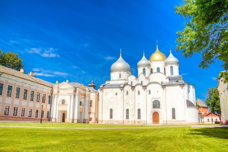 Собор St Sophia России Veliky Новгорода Кремля стоковая фотография rf