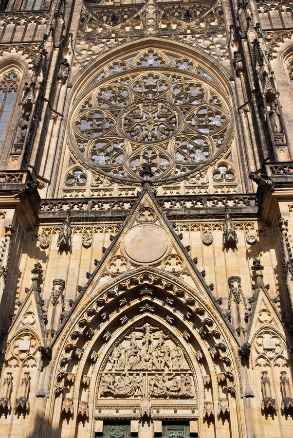 Собор St Vitus Прага, Чешская Республика стоковое фото