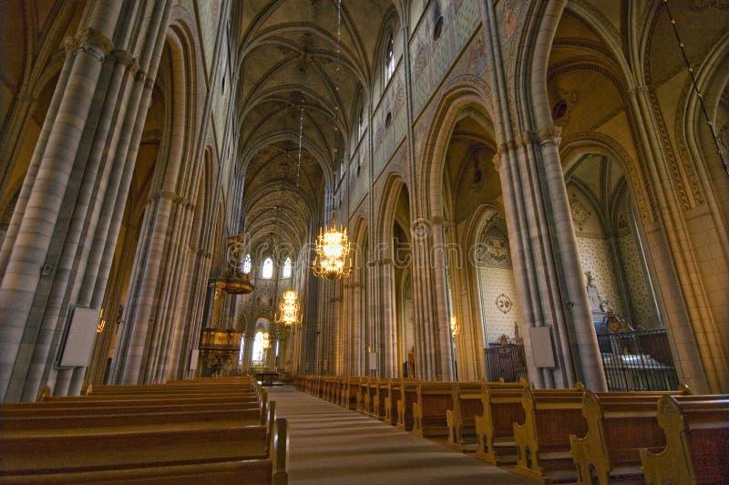 собор uppsala стоковые изображения rf