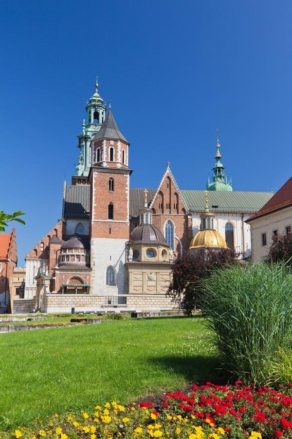 Собор Wawel на холме wawel в старом городке в cracow в Польше стоковая фотография rf