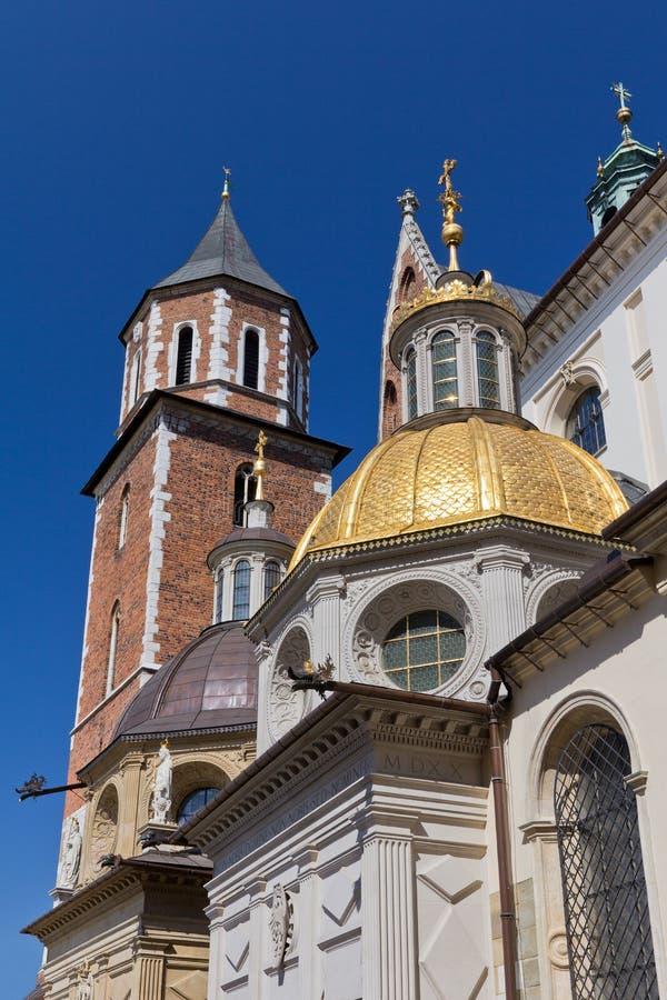 Собор Wawel на холме wawel в старом городке cracow в Польше стоковое фото rf