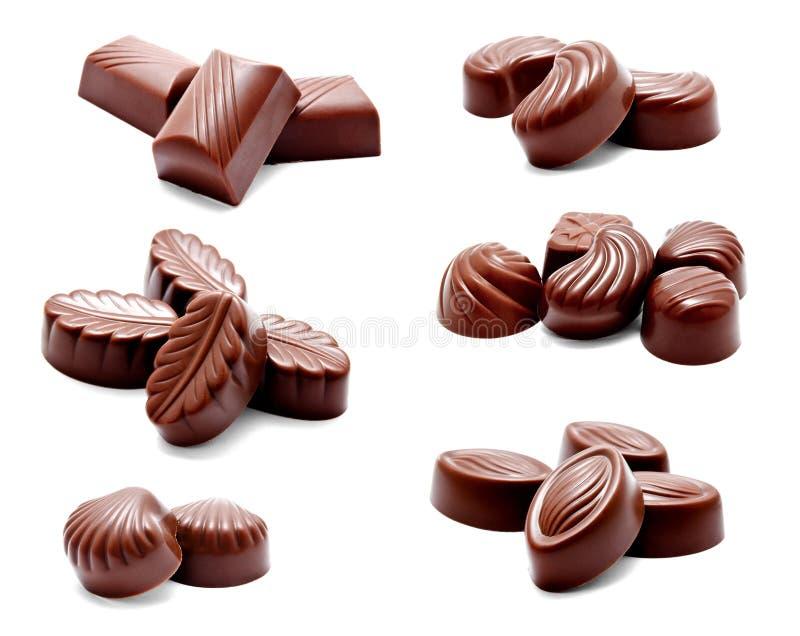 Собрание ассортимента фото помадок конфет шоколада стоковые изображения rf