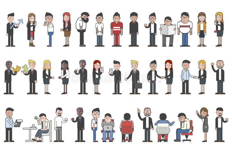 Собрание бизнесменов воплощений бесплатная иллюстрация