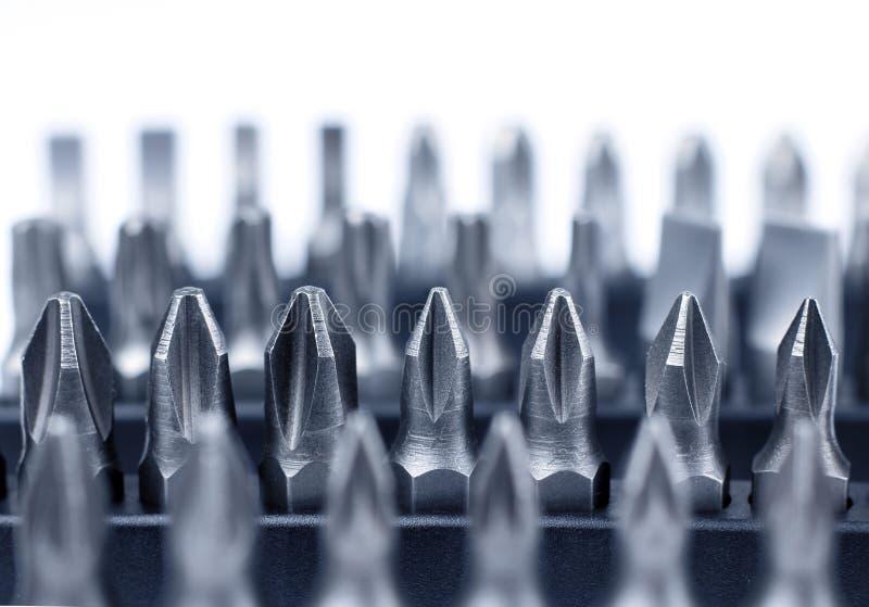 Собрание битов инструмента вольфрамокарбидного сплава стоковые изображения rf