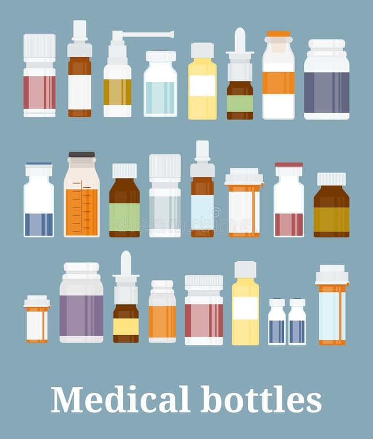 Собрание бутылок медицины бесплатная иллюстрация