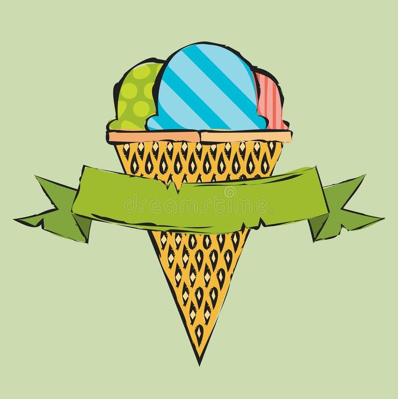 Собрание вектора мороженого иллюстрация вектора