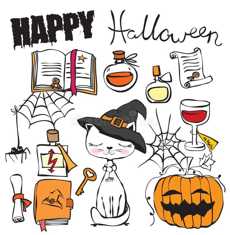 Собрание вектора хеллоуина бесплатная иллюстрация