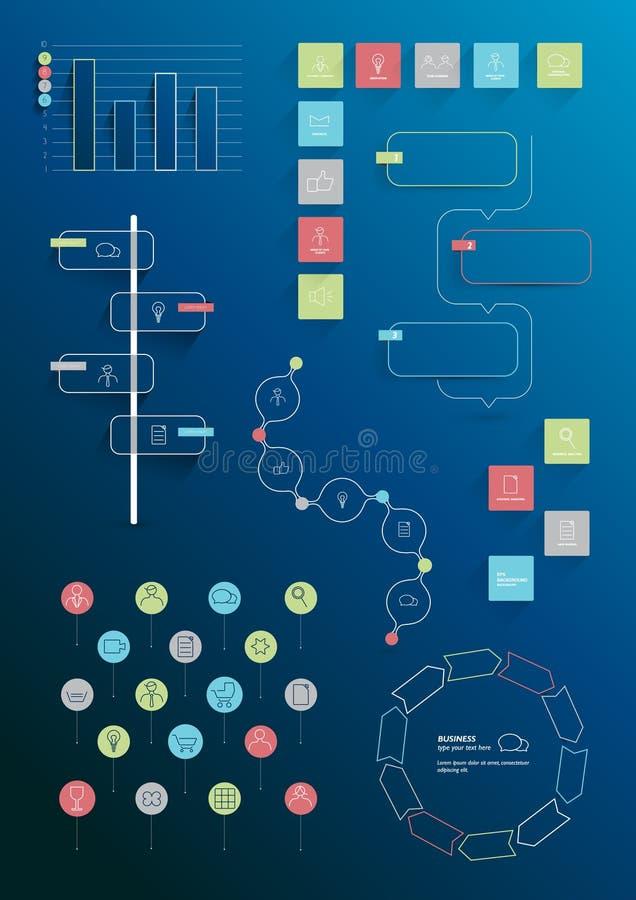 Собрание выровнянных элементов infographics бесплатная иллюстрация