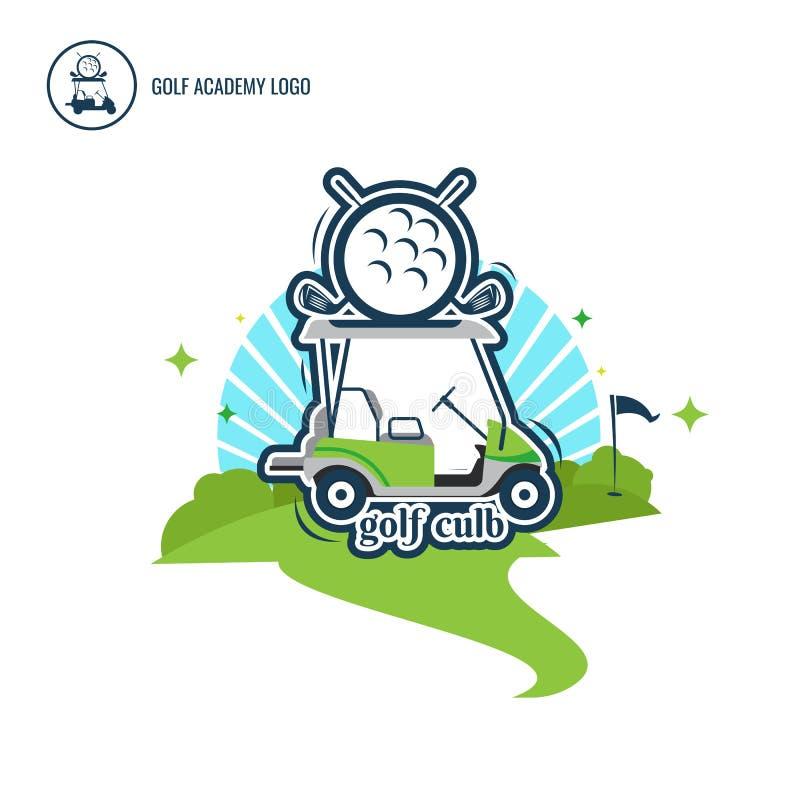 Собрание дизайна логотипа автомобиля гольфа логотипа Нормальный спорт ` s людей символ Аннотация также вектор иллюстрации притяжк иллюстрация вектора