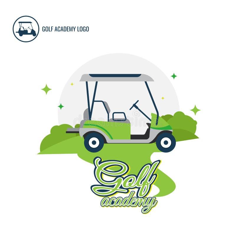 Собрание дизайна логотипа автомобиля гольфа логотипа Freeform Нормальное ` s людей иллюстрация вектора