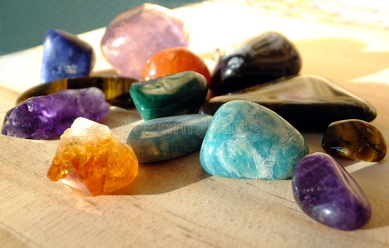 Собрание драгоценных камней стоковые изображения rf