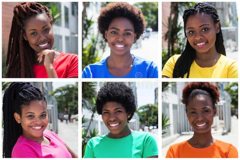 Собрание женщины 6 афроамериканцев стоковое фото rf