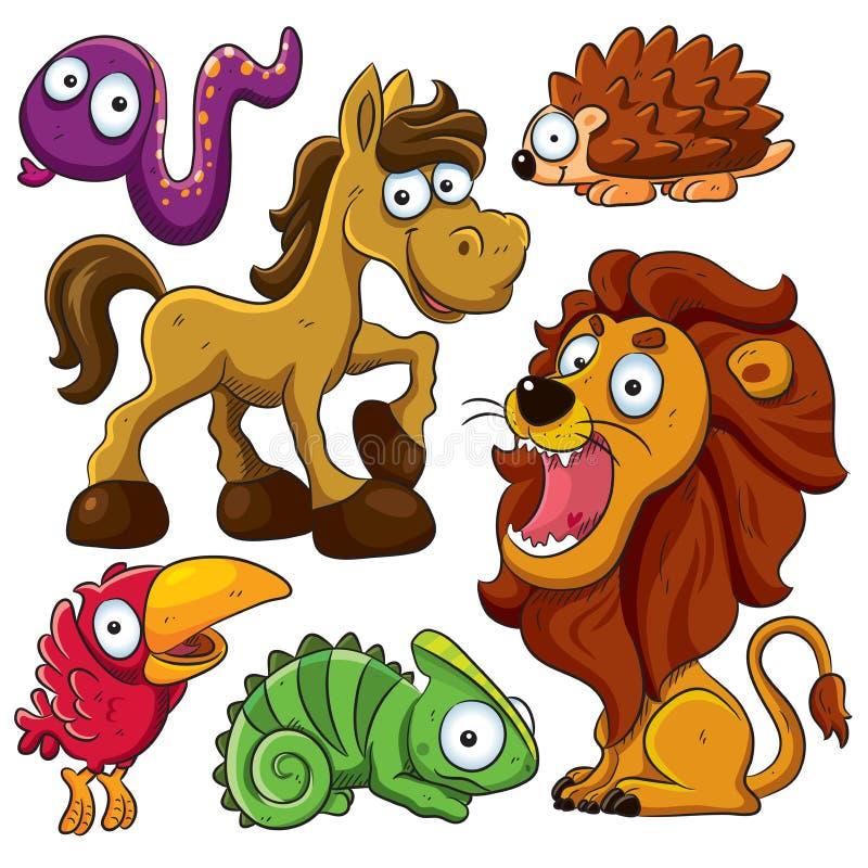 собрание животных иллюстрация вектора