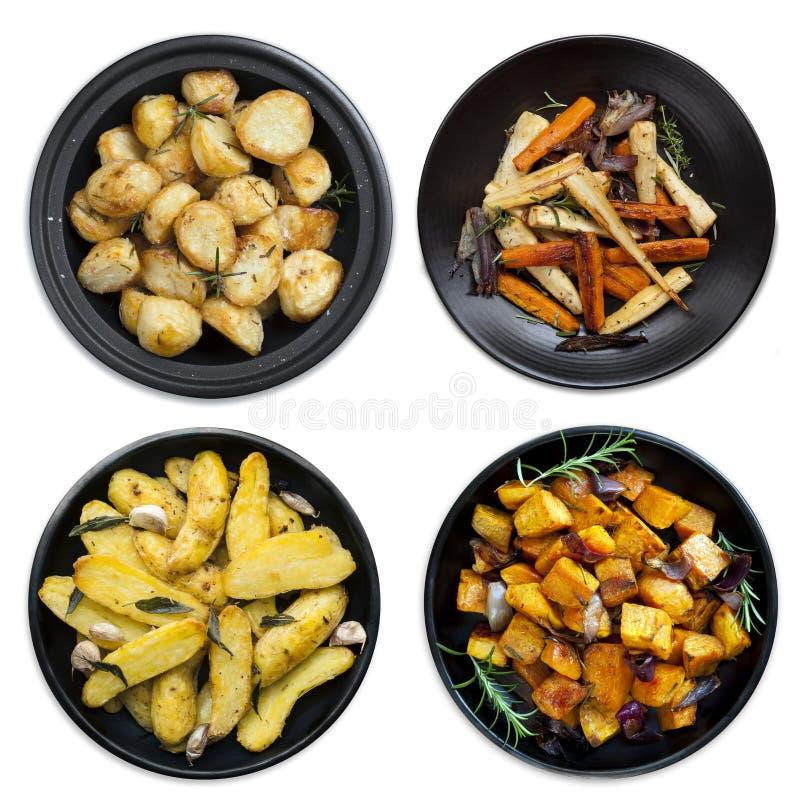 Собрание зажаренных в духовке овощей стоковое фото rf