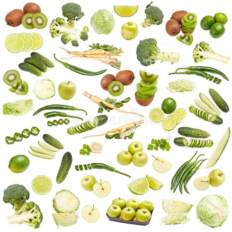 Собрание зеленой еды стоковое фото rf