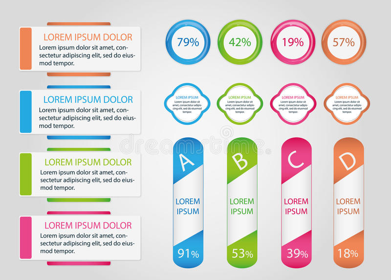 Собрание знамен Infographic стоковые изображения rf