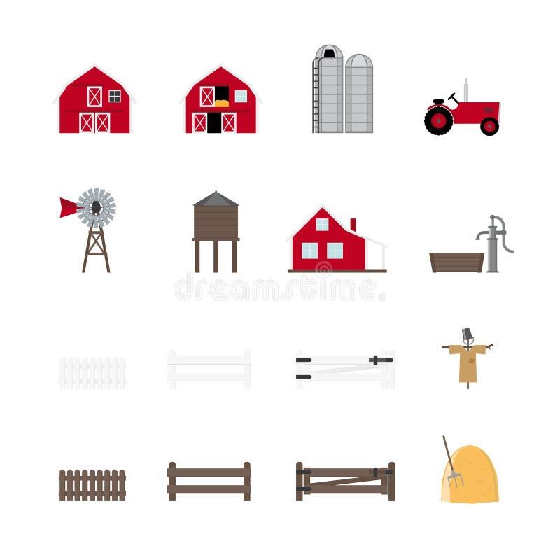 Собрание значка вектора фермы бесплатная иллюстрация