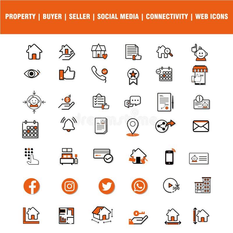 Собрание значков сети и применения для дизайнеров сети Значки этой сети набор значка varico 42 иллюстрация штока