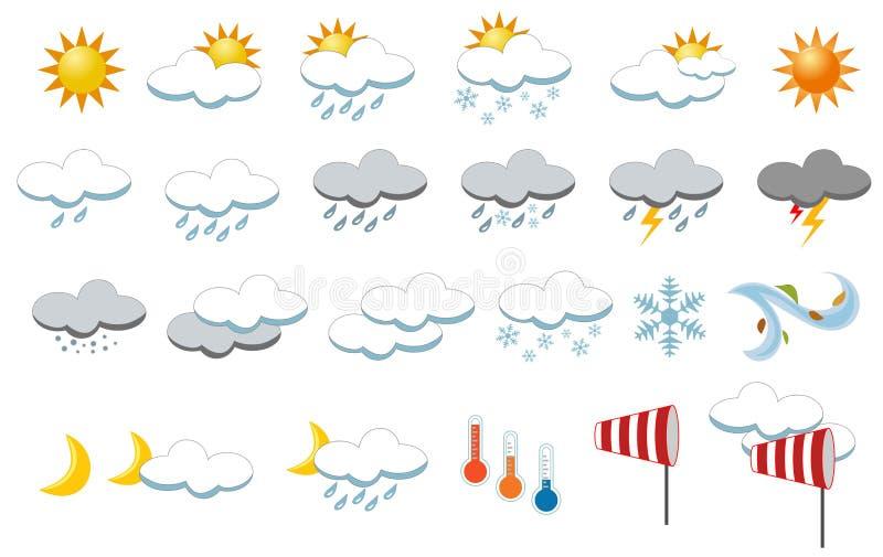 Собрание икон погоды бесплатная иллюстрация