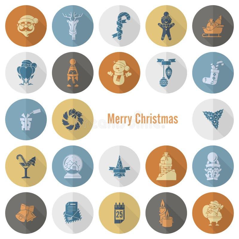 Собрание икон рождества и зимы бесплатная иллюстрация
