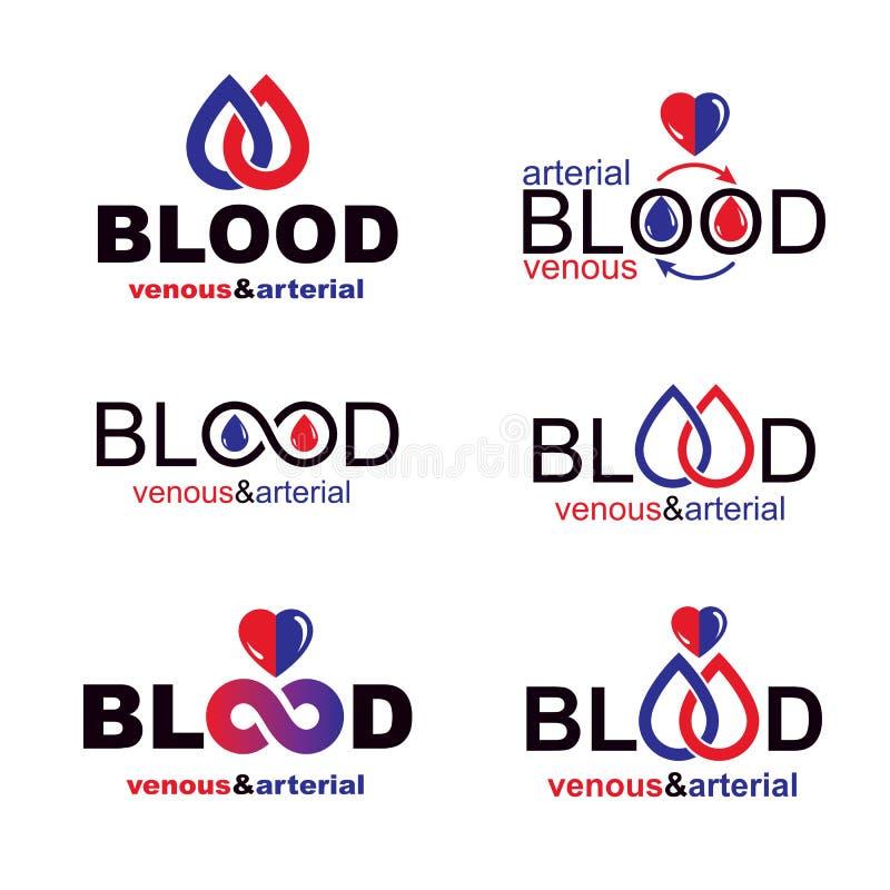 Собрание иллюстраций донорства крови вектора схематическое Healt бесплатная иллюстрация
