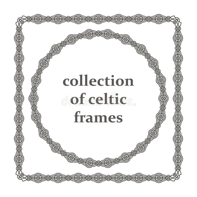 Собрание кельтских рамок иллюстрация вектора