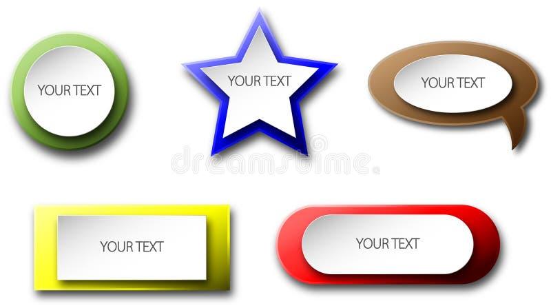 Собрание кнопок стоковое изображение