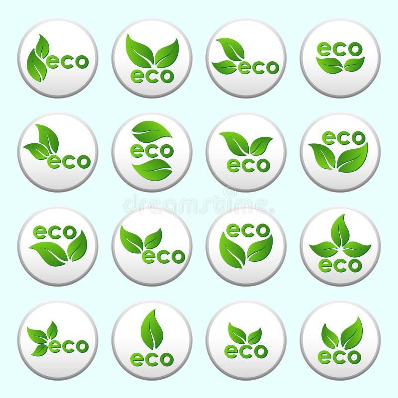 Собрание кнопок eco вектора иллюстрация вектора