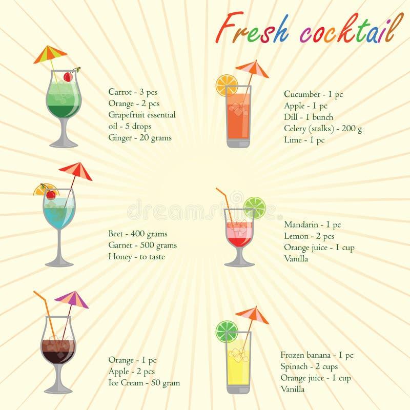 Собрание коктеилов и другого спирта выпивает стоковые фотографии rf