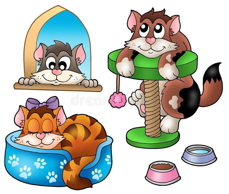 собрание котов милое иллюстрация вектора
