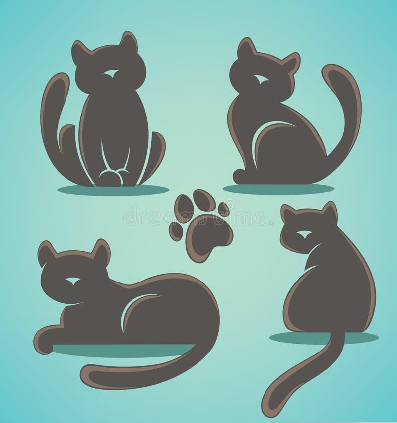 Собрание котов иллюстрация штока