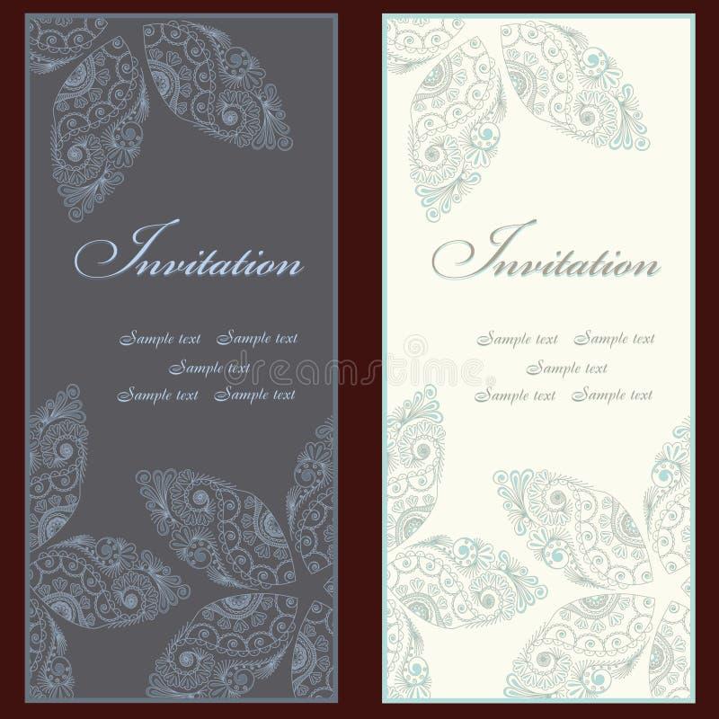 Комплект приглашения иллюстрация штока