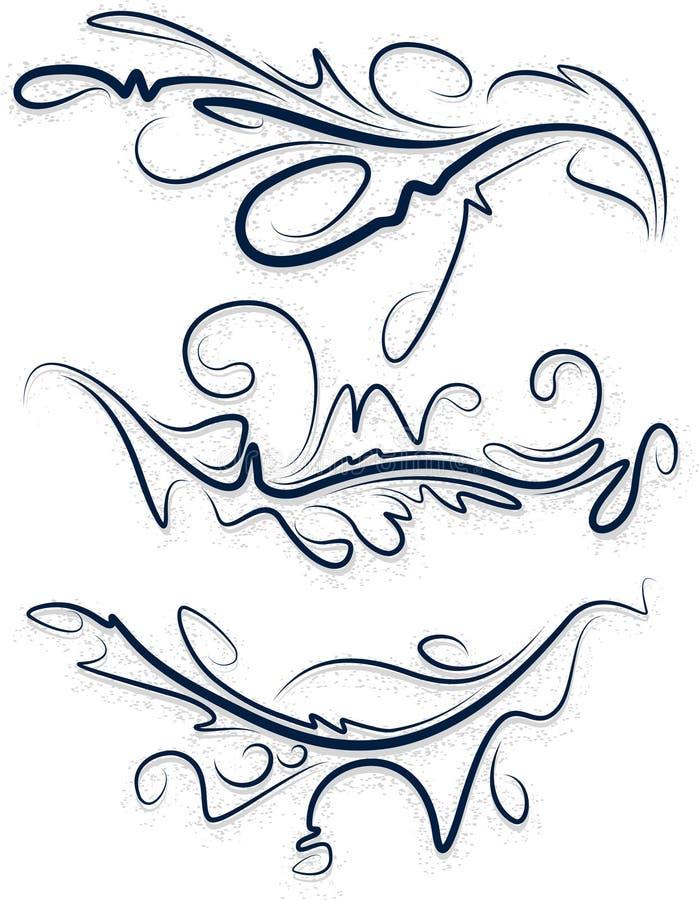 Собрание красивых декоративных деталей для вашего дизайна иллюстрация штока