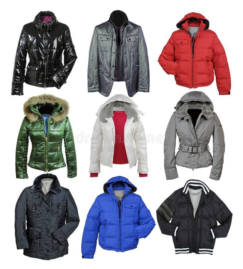 Собрание куртки стоковые изображения