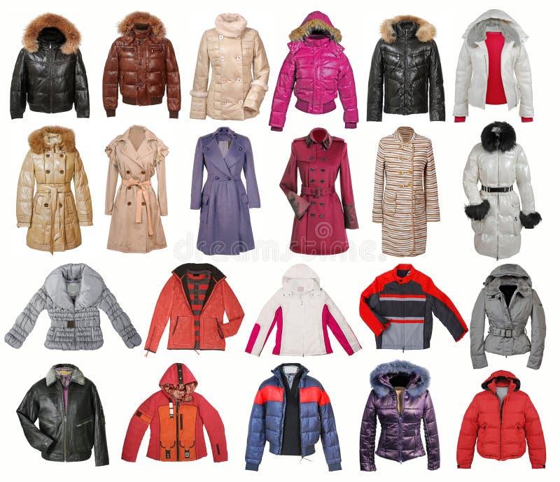 Собрание куртки стоковое изображение rf