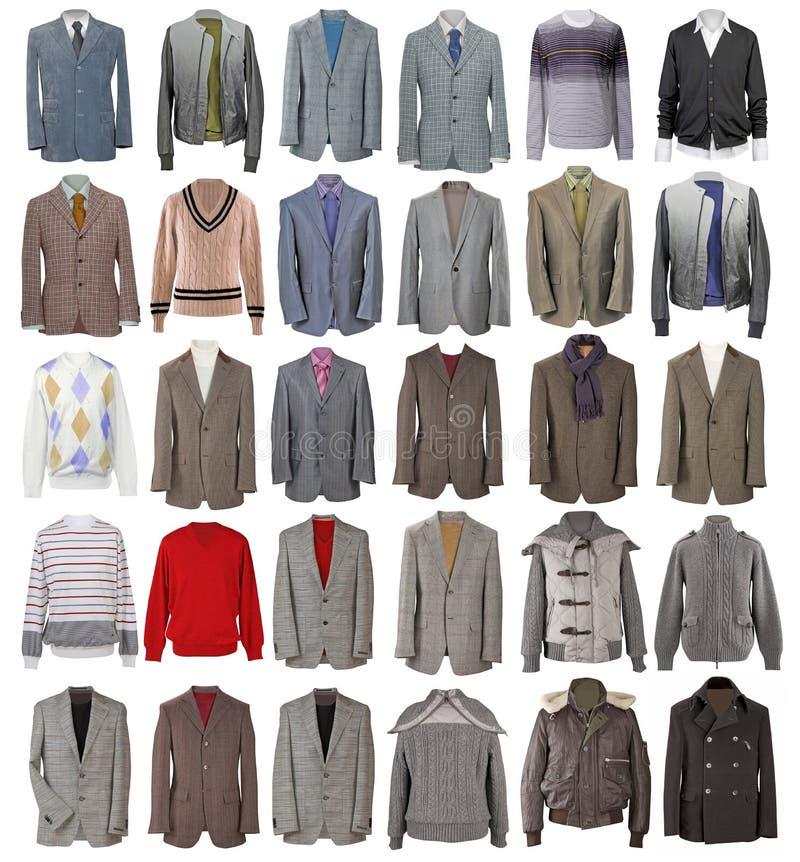 Собрание курток людей иллюстрация штока