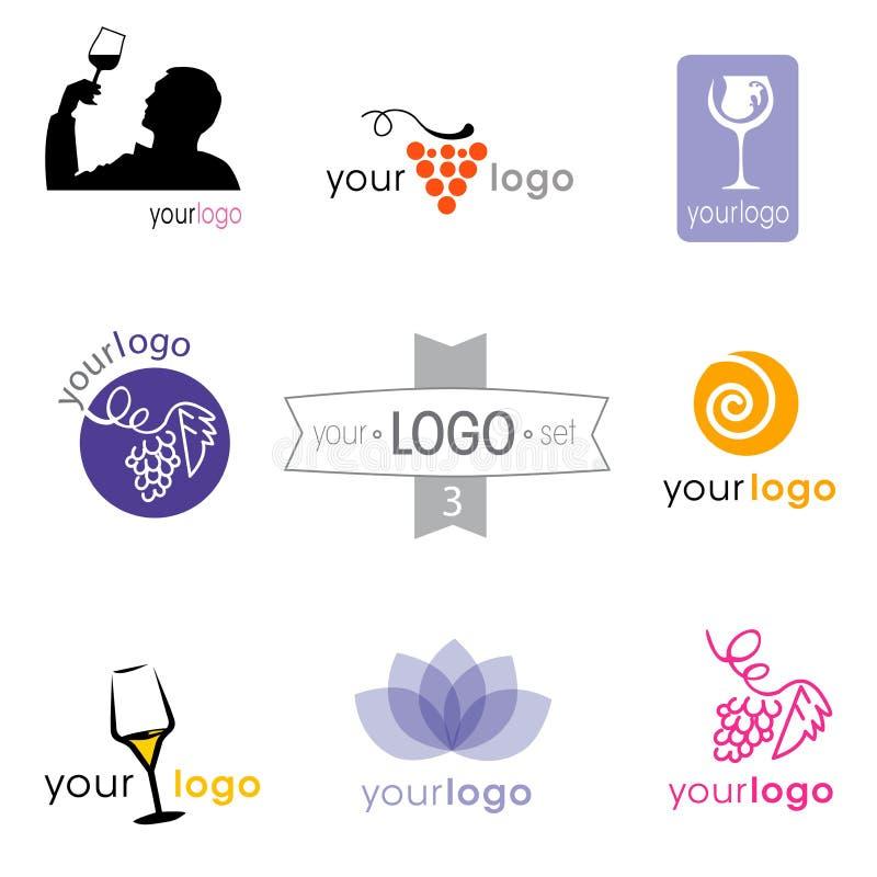 Собрание логотипа: большой комплект логотипов для различных компаний иллюстрация штока