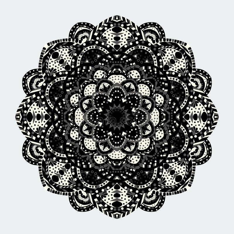 Собрание мандал Круглая картина орнамента декоративный сбор винограда элементов иллюстрация вектора