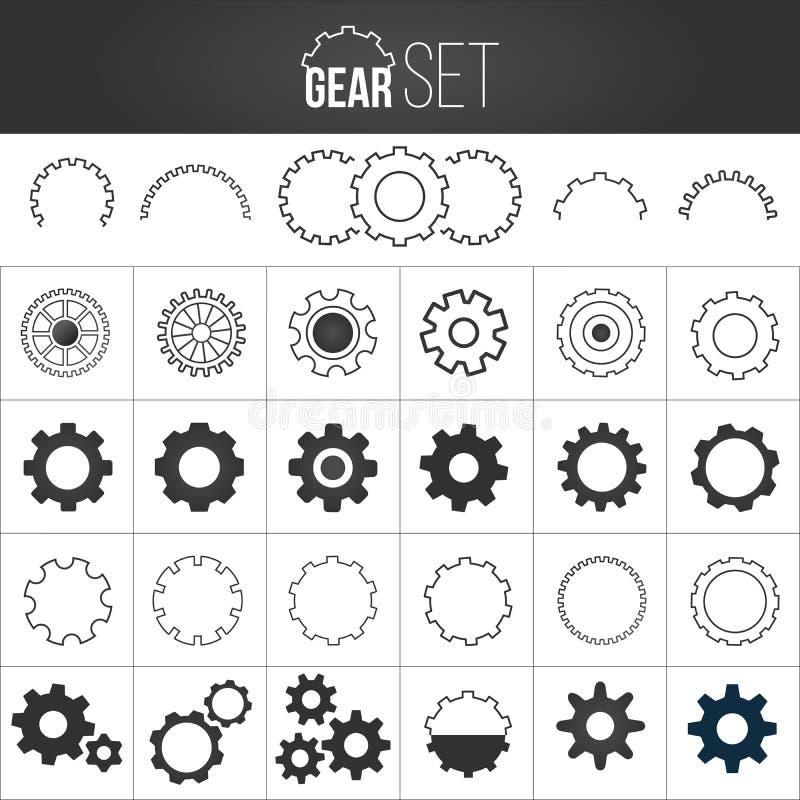 Собрание набора значка механизма gearwheel r бесплатная иллюстрация