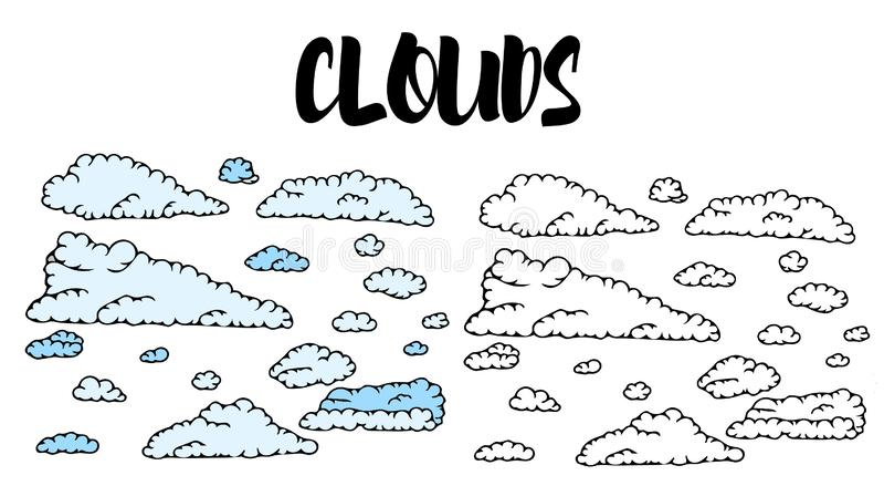 Собрание неба облака иллюстрация вектора