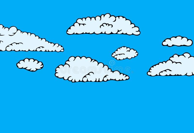 Собрание неба облака иллюстрация штока