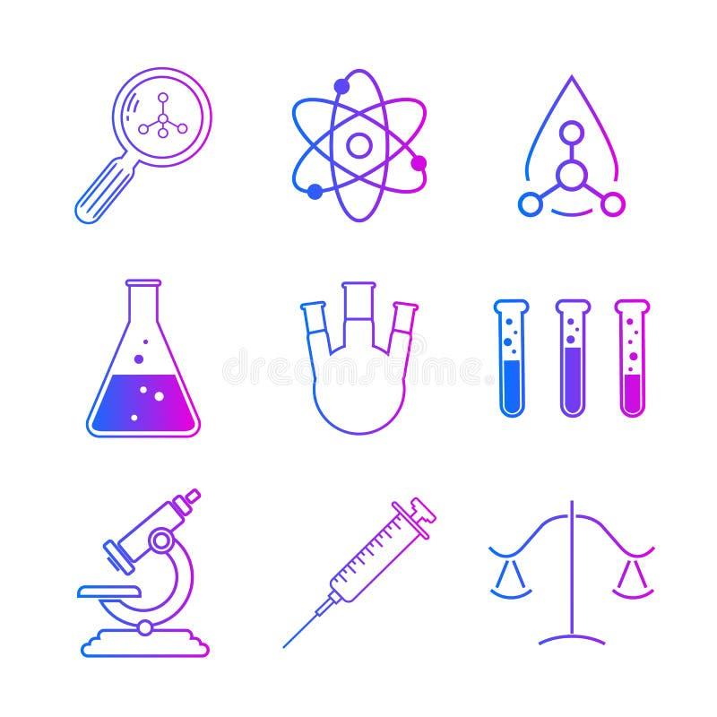 Собрание оборудования химической лаборатории бесплатная иллюстрация